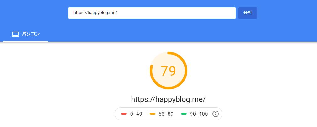 happyblogでスタンダードプラン利用時の表示速度
